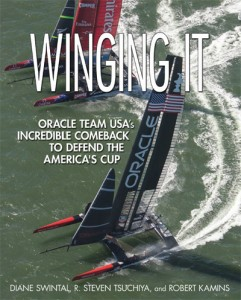 Cover of Winging It book on 2013 America's Cup
